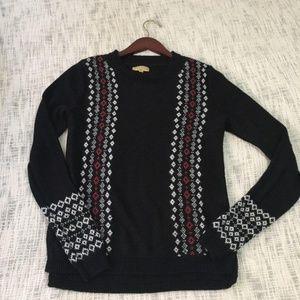 Black vera wang knit sweater wear